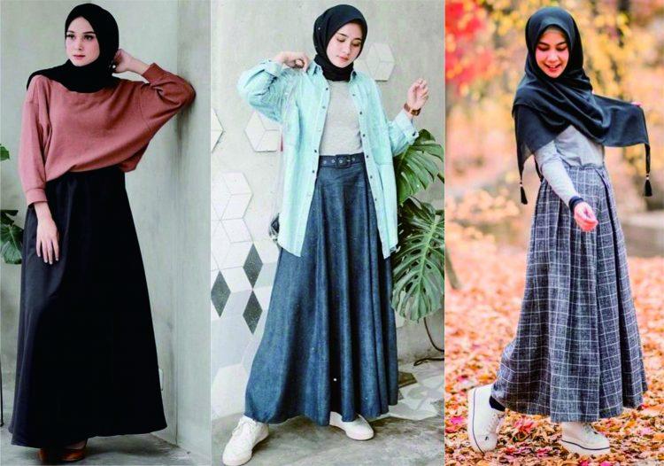 5 Tips Simpel Mix and Match outfit dengan Mengandalkan Kerudung Hitam