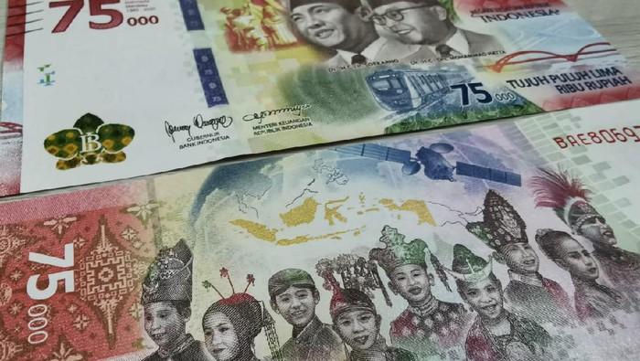 BURUAN KLAIM: Tukar Uang Baru Rp 75.000 Sekarang 1 KTP dapet 100 Lembar Dibatesi Gampang Dapetinnya